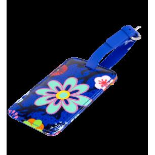 Luggage label - Voyage Blue Flower