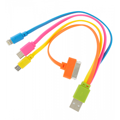 USB Multi 2 - Multifunktions-USB-Kabel 4 in 1 Grün