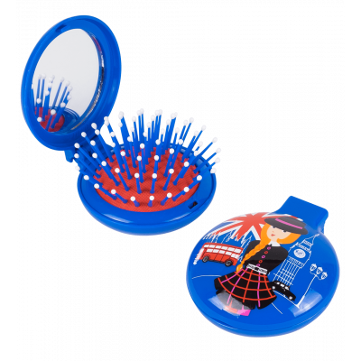Lady Retro - 2 in 1 hairbrush and mirror Petite Anglaise