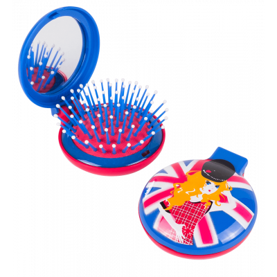 Lady Retro - 2 in 1 hairbrush and mirror Anglaise