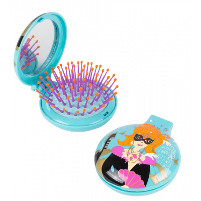 Lady Retro - 2 in 1 hairbrush and mirror Venitienne
