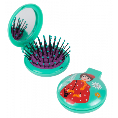 Lady Retro - 2 in 1 hairbrush and mirror Petite Parisienne