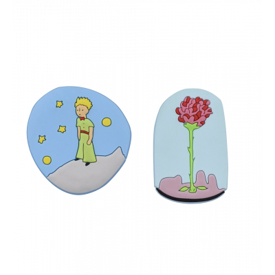 Set of 2 magnets - The Little Prince Rose