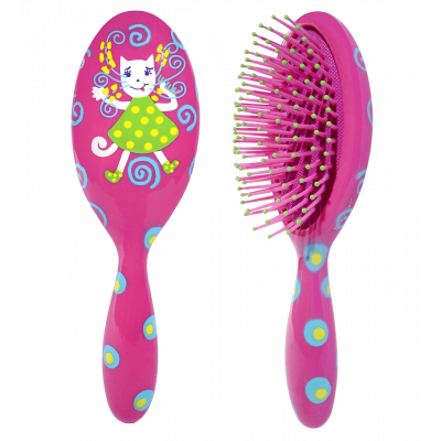 Spazzola per capelli - Ladypop Small Pink Cat