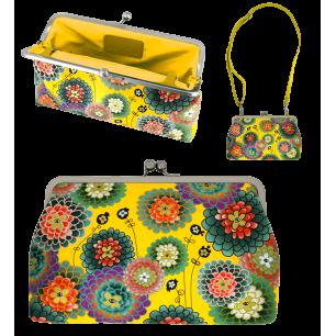 Clasp clutch bag - Clip Wide Dahlia
