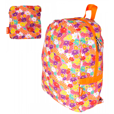 Foldable backpack - Pocket Bag Flowers