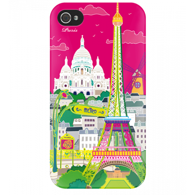 I Cover 4 - Cover per iPhone 4/4S Paris rose
