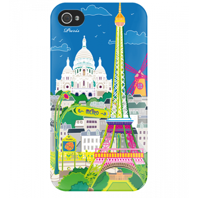 I Cover 4 - Cover per iPhone 4/4S Paris Bleu