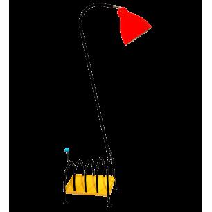 Magazine rack lamp 60's - Lecto Black