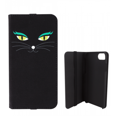 Klappdeckel für iPhone 5/5S/5E - I Wallet Black Cat