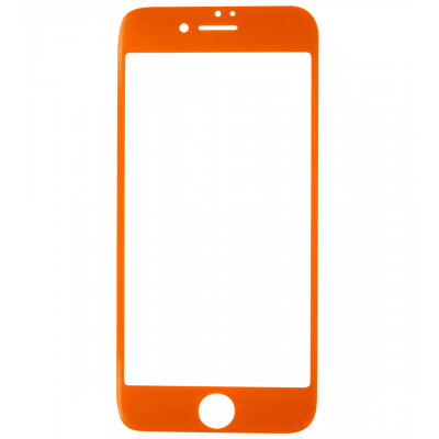 Glass screen protector for iPhone 6/7 - I Protect Orange