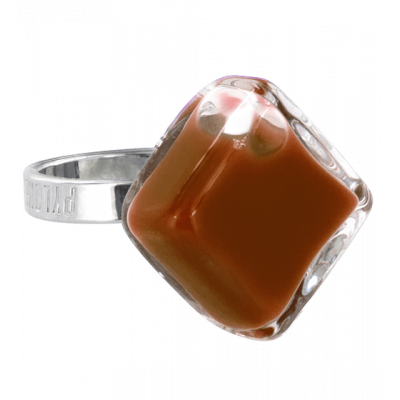Glass ring - Losange Nano Milk Chocolate