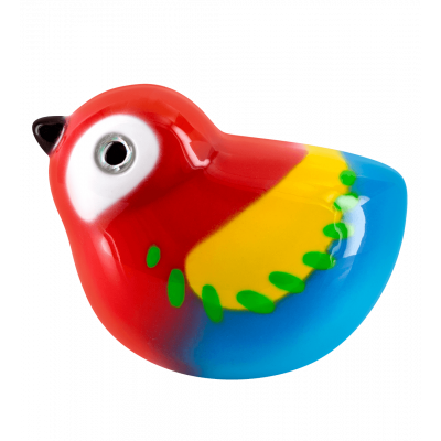 Piu Piu - Magnetic bird for paperclips Ara rouge