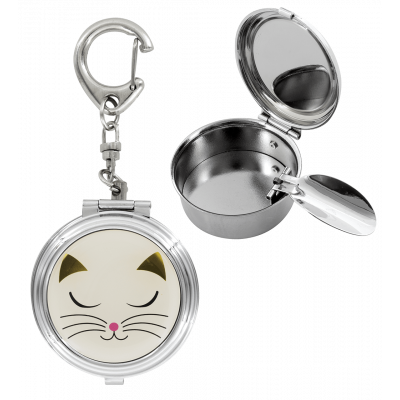 Cendrier de poche - Cend'Art White Cat