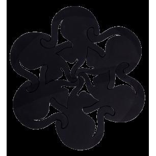 Heatproof mat - Entrechats Black