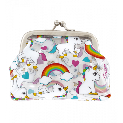 Purse with clasp close - Clipurse Unicorn