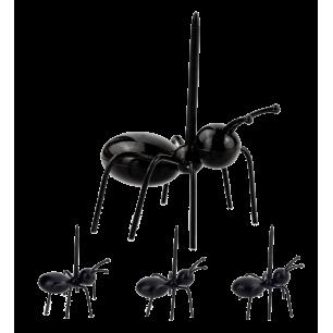 Set di 20 stecchini per aperitivo - Ant Pick Party Nero
