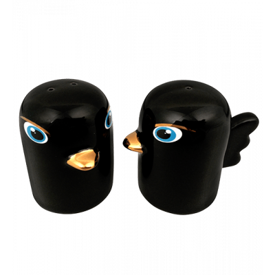 Tweet Tweet - Salt and Pepper shaker Black