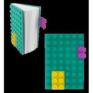 Carnet en silicone - Briques Turquoise