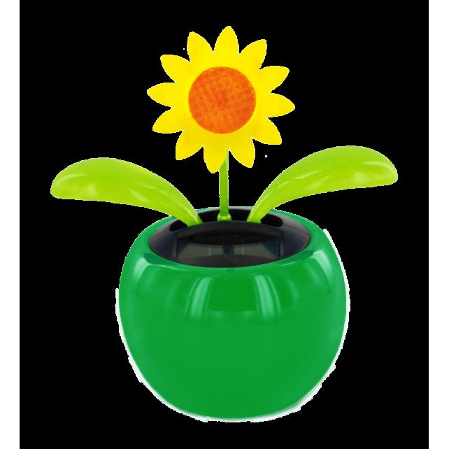 225 & Solar-powered - Dancing Flowers Tournesol Vert