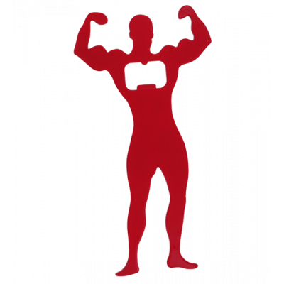 Bodybuilder - Bottle opener Red