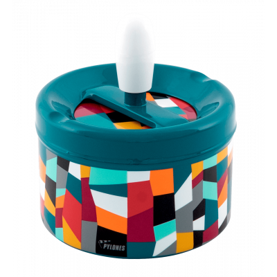 Push-button ashtray - Pousse Pousse Accordeon