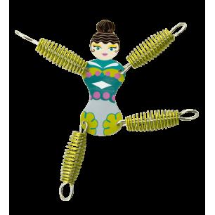 Keyring - Grigri Girl Green