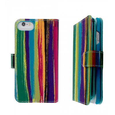 Custodia a portafoglio per iPhone 6, 6S, 7 - I Big Wallet Paint