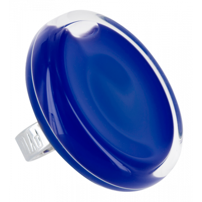 Cachou Giga Milk - Anello in vetro Blu scuro