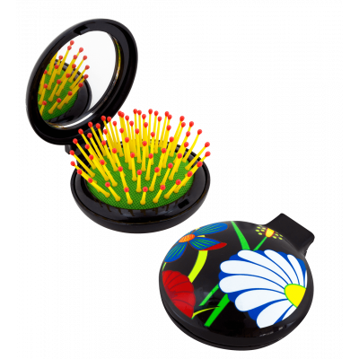 Lady Retro - 2 in 1 hairbrush and mirror Ikebana