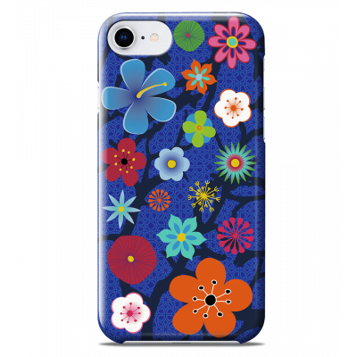 Coque pour iPhone 6S/7/8 - I Cover 6S/7/8 Blue Flower