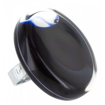 Glass ring - Cachou Giga Milk Black
