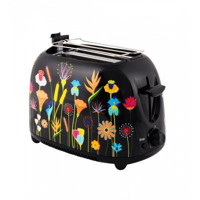 Toaster with English plug - Tart'in Jardin fleuri