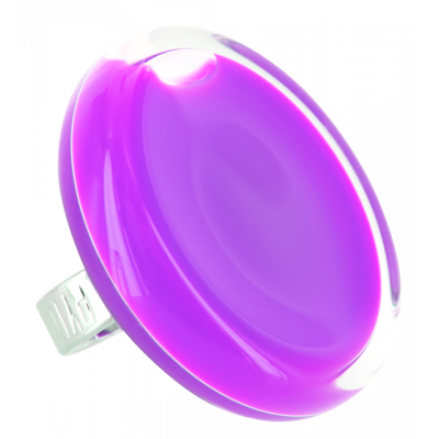 Glass ring - Cachou Giga Milk Purple