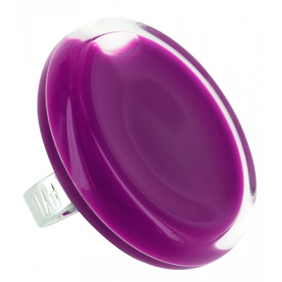 Glass ring - Cachou Giga Milk Dark purple