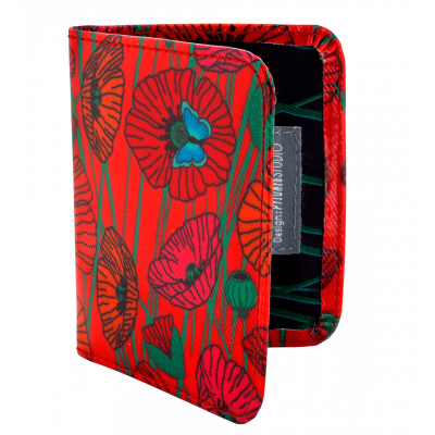 Card holder - Voyage Coquelicots