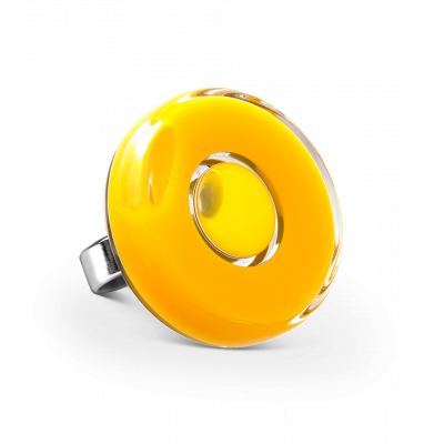 Bague en verre - Duo Medium Jaune