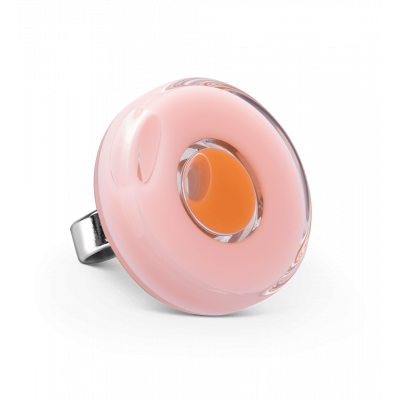 Bague en verre - Duo Medium Rose clair