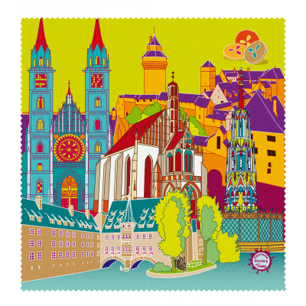 Microfibre cloth for glasses - Belle Vue City Nuremberg