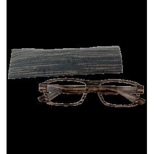 Korrekturbrille - Bois Rectangle - Dunkelbraun 200