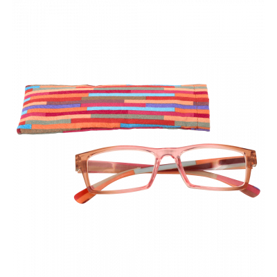 Korrekturbrille - Multicolor - Rosa/Orange 200