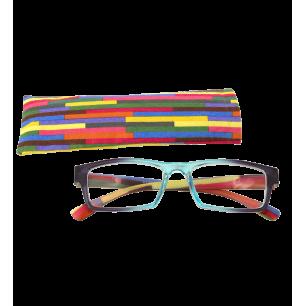 Korrekturbrille - Multicolor - Türkis/Lila 150