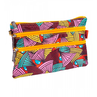 Pochette 3 zips - Zip It African Spirit