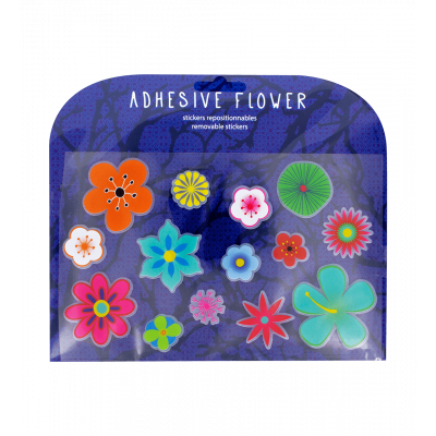 Stickers histoires repositionnables - Adhesive Stories Blue Flower