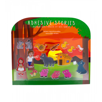 Stickers histoires repositionnables - Adhesive Stories Contes