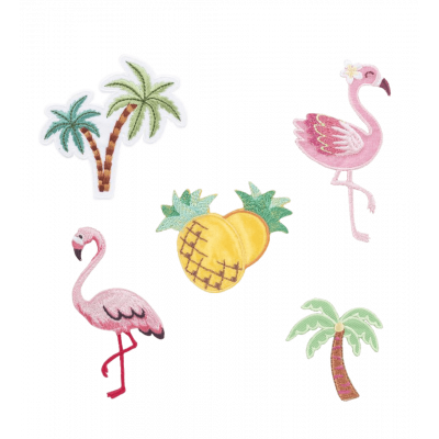 Set of 5 stickers for clothes Tropical