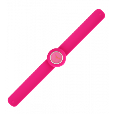 Slap watch - Time Pink