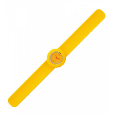 Montre slap - Time Jaune