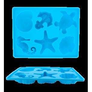 Eiswürfelform - Sea Shell Blau
