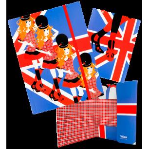 FLD. Akademic - A4 cardboard folder Anglaise
